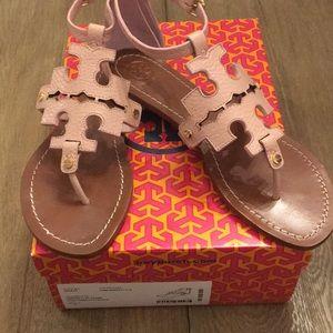 Tory Burch Phoebe Flat Thong Sandals Pink Quartz